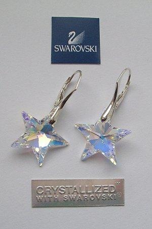 Swarovski Star Crystal AB kolczyki