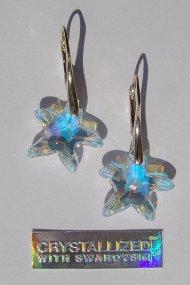 Swarovski Starfish C AB kolczyki