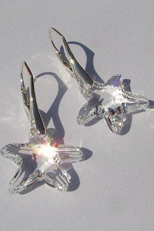 Swarovski Starfish Crystal kolczyki
